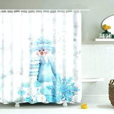 Teal Bird Curtains Teal Bird Curtains Winter Snowman Print Fabric Waterproof Bath