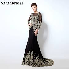 Black And Gold Lace Prom Dress Online Get Cheap 2016 Gold Lace Applique Mermaid Prom Dress
