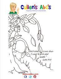 Bible Key Point Coloring Page Zacchaeus Online Preschool And Zacchaeus Coloring Page