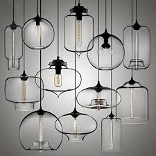 Modern Glass Chandeliers Uk New Modern Retro Industrial Style Glass Pendant Lamp Amazon Co Uk