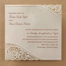 wedding invitation sle vintage pearls lace laser cut embossed wedding invitations