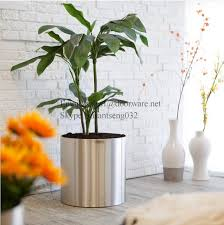 Large Metal Vase Metal Flower Tall Vase Home Decor Decoration Stainless Steel Large