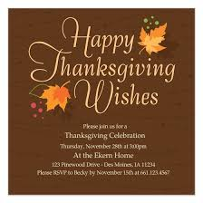 thanksgiving invitation cards paperinvite