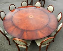 Extendable Dining Table Seats 10 Antique Furniture Warehouse Vintage Dining Set Of Large Round