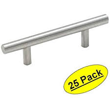 Satin Nickel Cabinet Handles Satin Nickel Kitchen Cabinet Pulls 3 Inch Bar 25 Pack Of