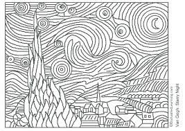 pattern art famous art pages to color marijuanafactorfiction org