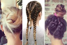 best workout hairstyles hair tips for the gym teen vogue