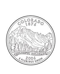 coloring pages quarter usa printables colorado state quarter us states coloring pages