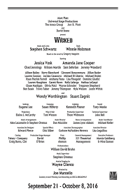 wicked 2016 program book by providence performing arts center issuu