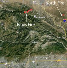 California Wildfires Hume Lake by Pines Fire Required 300 To Be Evacuated From Camps Near Wrightwood
