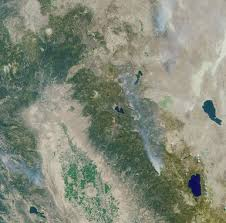 California Wildfires Valley Fire by Space Images A Panoramic View Of The Emigrant Gap Fire California