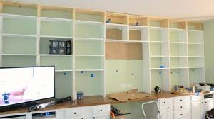 Kids Built In Desk by Remodelaholic Build A Wall To Wall Built In Desk And Bookcase