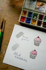 black watercolor paint color mixing tutorial on craftsy