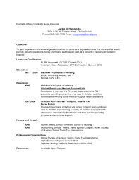 New Graduate Nurse Resume Examples by Cover Letter Nurse Resume