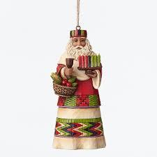 santa around world orn jim shore
