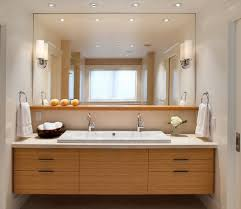 Large Mirrored Bathroom Cabinets by Trough Sink Separate Sets Of Drawers Large Mirror Decorative