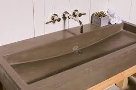 hensley trough concrete vanity sink bathroom ramp sloped