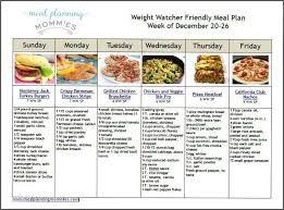 weight watcher friendly meal plan with smart points 1 weight