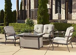 Outdoor Furniture With Fire Pit Table by Patio Furniture With Fire Pit Amazon Com