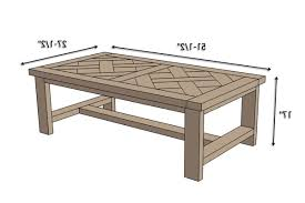 coffee table coffee table measurements intended for good ana