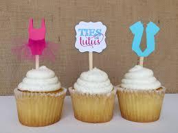 12 gender reveal ties or tutus baby shower cupcake toppers