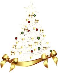 Christmas Tree Decorations Gold Bows by Gold Christmas Tree Clipart Clipartxtras