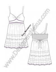 free fashion flat sketch v13 sweetheart empire waist tank dress