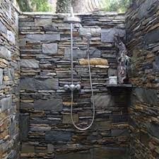 natural stone bathroom design ideas single black vanity sink