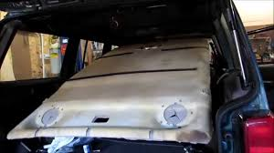 jeep cherokee xj sunroof headliner replacement jeep cherokee part 2 complete process youtube