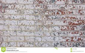 chipped red white grey blue paint brick wall stock photo image