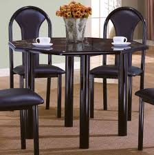 high gloss finish contemporary 5pc dinette w octagon table