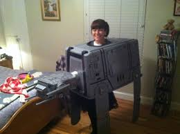 my homemade star wars imperial walker at at costume star wars