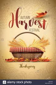 thanksgiving posters vector autumn harvest festival poster design template elements