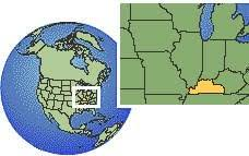 us map time zones with states current local time in kentucky western united states