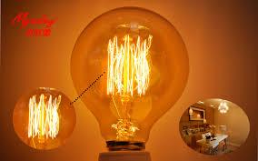 incandescent bulb edison design g80 z 40w tungsten wire light bulb