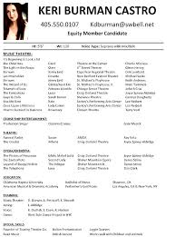 theatre resume musical theatre resume templates franklinfire co