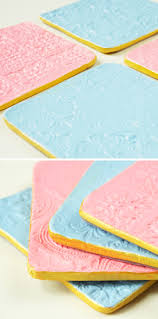 diy stamped clay coasters gathering beauty