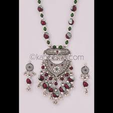 silver jewellery necklace sets images Indian artificial jewelry silver necklace set pleasing oxidized jpg