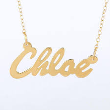 gold necklace with name in cursive 10k gold cursive name necklace be monogrammed