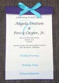 Wedding Programs Sample Custom Sample Purple Ivory Layered Wedding Program Ebay