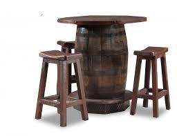 Rustic Bar Table Reclaimed Whiskey Barrel Pub Table Southern Creek Rustic Furnishings