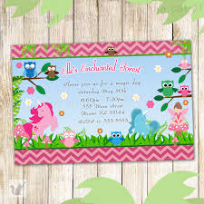 enchanted forest birthday invitation personalized party
