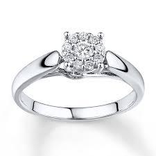 10k wedding ring engagement ring 1 4 ct tw cut 10k white gold