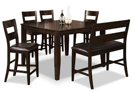 Wooden Dining Table Designs Kerala Dakota 6 Piece Counter Height Dining Package The Brick