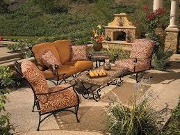 Cushion Patio Chairs by Black Wrought Iron Patio Furniture Techethe Com