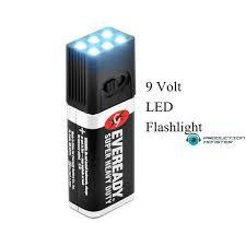 3 pack 9 volt led mini flashlight 6 led bulbs on switch