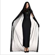Ghost Costumes Halloween Aliexpress Buy Kids Adults Black Ghost Costume Evil Witch