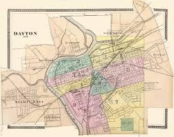 Ohio Map by Old City Map Dayton Ohio 1876