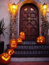 Orange Net Lights Halloween Halloween Begins And Ends With Your Front Porch The Accent