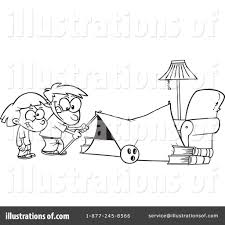 camping clipart 437779 illustration by toonaday